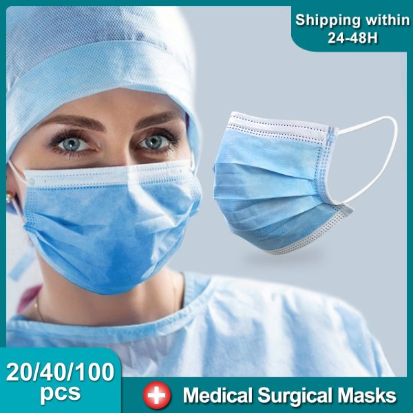 Medical Surgical Mask 95% Meltblown Cloth Filter for Protection Anti Infection Respirator Dust Earloop Face Mask Disposable