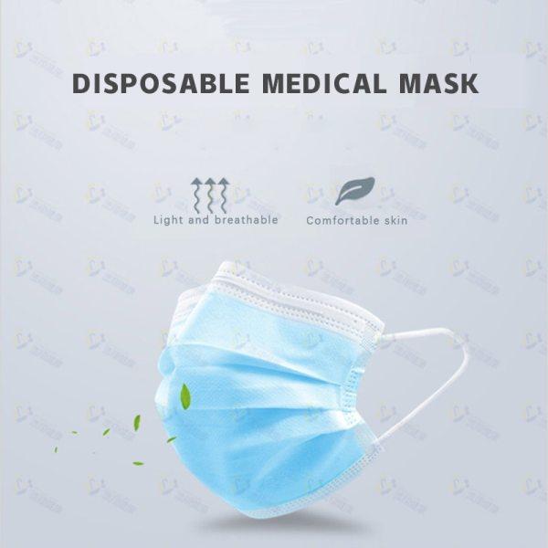 StartOnYou disposable medical face masks 20pcs non-woven with three layers protection Elastic elastic ring ear hook face masks