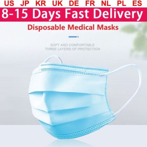 Fast Delivery Face Mouth Masks Non Woven Anti-Dust Meltblown Cloth Disposable Medical Masks Earloops Masks