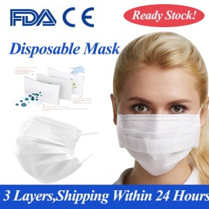 New Arrive White Medical Non-woven Mask 10 Pieces 3 Layer Dustproof Anti-fog Breathable Face Mask Filtration Adult Safety Mask