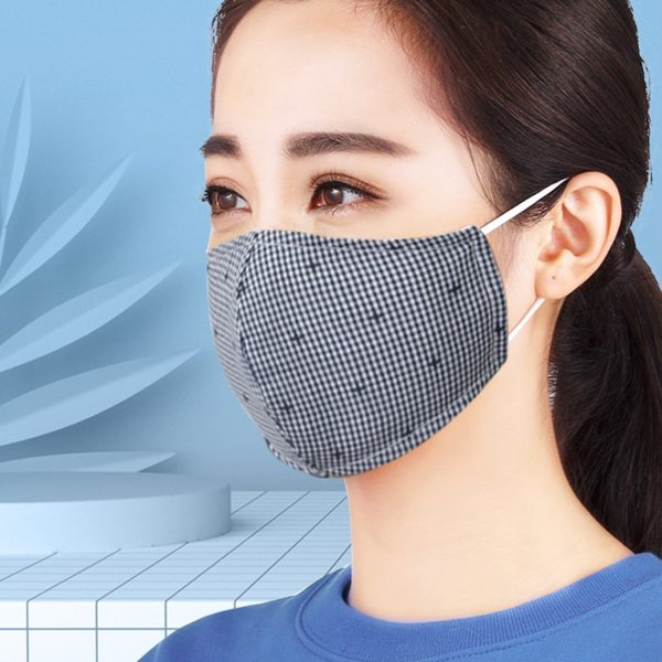 1pcs Unisex Non-woven Fabric Face Mask Anti-dust Anti-haze Breathable Washable Reusable Windproof Mask