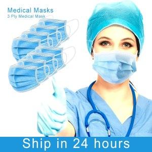 50Pcs Disposable Mask Medical 3-Ply Earloops Medical Mask Anti-dust Antivirus FFP3 KN95 Surgical Mask KF94 Face Mask Medical