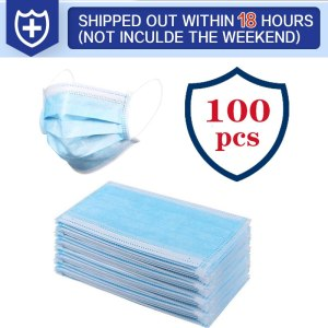 100Pcs Medical Mask Disposable Dustproof Face Mouth Masks Anti 3-Ply PM2.5 Anti Influenza Breathing Safety Masks Anti-viral
