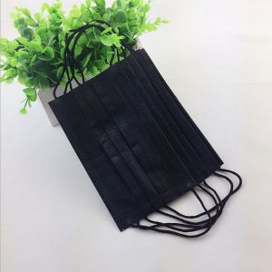 2020 Disposable black Face Mask Non Woven Dust Mask Anti Pollution Filter Layer 3 Layers Protection Adult Send By DHL