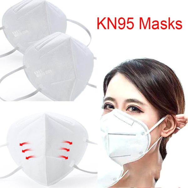Mask KN95 Face Mask 95% Filtration Non-woven Fabric Protective Masks Dust Particles Pollution Filter