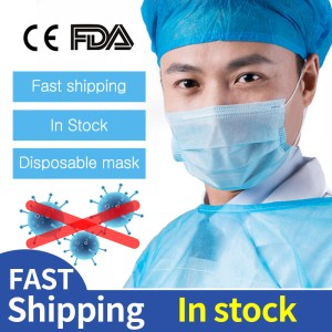 200pcs Medical Masks Bacteria Proof Surgical Masks 3 Layer Filter Disposable Masks Anti-dust ce certificate FDA Mouth Face Masks