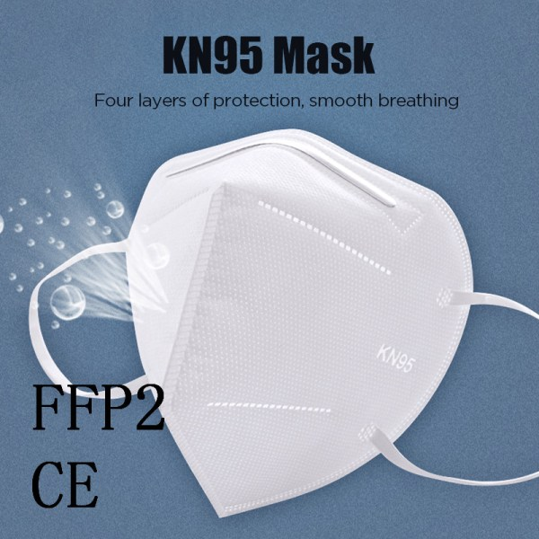 KN95 Mask Protection Face Masks 95% Filtration Mouth Cover 20pcs Reusable KN95 Mask Protection Face Masks 95% Filtration Mouth Cover Anti Dust Pollution anti-virus