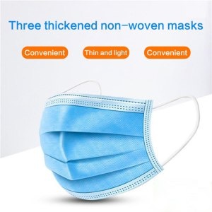 Anti Flu Disposable Mask 3 Ply Non-woven Mouth Mascherine Face Masks Masque Respirator Features As Ffp3 Ffp2 Ce