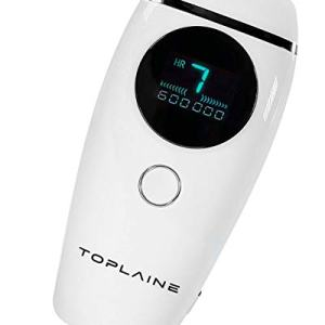 Toplaine Laser Hair Removal Device - Potent 600.000 IPL Permanent Hair Remover for Women - Easy to Use Home Face & Body Hair Removal Kit – Pain-Free and Most Convenient Hair Removal Epilator (White)