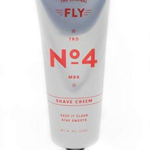 FLY NO 4 SHAVE CREAM, Best Luxury Shaving Cream, Close Shave, Protects From Razor Burn & Rash, Moisturizing, Cooling Menthol, Amber Mahogany Fragrance, Paraben Free, Sulfate Free, Cruelty Free, 4 oz