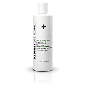 Vivant Skin Care's Buffing Grains Exfoliating Cleanser – Effective and REFRESHING facial scrub that can be used on ALL SKIN TYPES. Great for any REJUVENATION regimen.