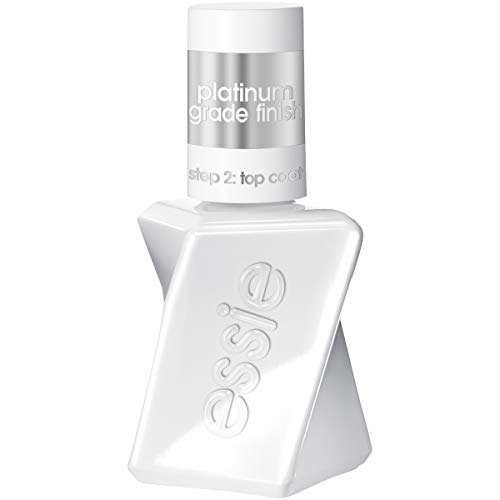 essie gel couture platinum grade finish top coat top coat, 0.46 Fl Oz (Pack of 1)(packaging may vary)