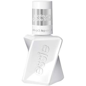 essie gel couture platinum grade finish top coat top coat, 0.46 Fl Oz (Pack of 1)(packaging may vary)