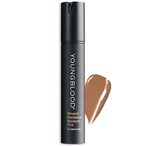 Youngblood Clean Luxury Cosmetics Mineral Radiance Moisture Tint, Golden Sun | Tinted Dewy Oil-Free Mineral Moisturizer Dry Skin Natural Hydrating Correcting | Vegan, Cruelty-Free