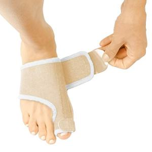 Vive Bunion Brace (Pair) - Big Toe Corrector Straightener with Splint - Hallux Valgus Pad, Joint Pain Relief, Alignment Treatment - Orthopedic Sleeve Foot Wrap Support for Men and Women (Beige)