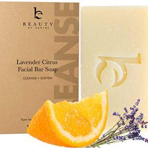 Organic Face Wash Bar Soap - Facial Cleanser Soap Bar for Dry or Sensitive Skin, Natural Soap Face Cleanser, Organic Soap, Womens & Mens Face Wash Soap Bars, Vegan Soap for Face Care