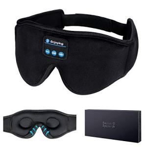 Sleep Headphones, 3D Sleep Mask Bluetooth 5.0 Wireless Music Eye Mask, LC-dolida Sleeping Headphones for Side Sleepers, with Ultra-Thin HD Stereo Speakers Perfect for Sleeping, Air Travel, Meditation