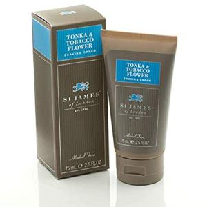 St James of London Tonka and Tobacco Flower Shave Cream Tube, 2.5 Fl Oz
