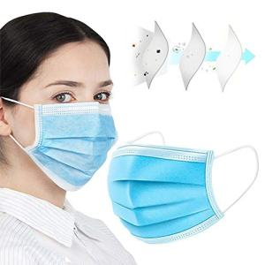 NEWMARK MengChen 50pcs Disposable Face Mask for Air Pollution,Dustproof Mouth Cover, Men Women Adult Child 3-ply Safety Mask for Work and Home