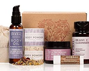 Love Your Skin, Luxury Natural Skincare Gift Set, Self Care Gifts for Women, Herbal Infused Skin Care, Skin Care Set, Ora's Amazing Herbal, Paraben-free Luxury Skin Care Sets, Apothecary Skincare