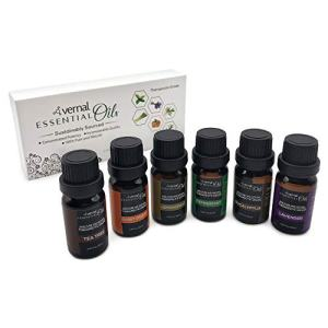 Vernal Sustainably Sourced Essential Oil Set,100% Natural & Pure,Top Spa Essential Oil Set,Best Essential Oil for Home Diffuser,Essential Oil for aromatherapy, sinuses,allergies,sleeping and massage.