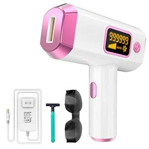 Permanent Hair Removal Kit for Women and Man - IPL UPGRADE 999999 Flashes Painless Depilator - Facial, Arms, Armpits, Legs and Bikini Lines