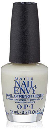 OPI Nail Strengthener, Matte Finish Nail Envy Nail Strengthener Treatment, 0.5 Fl Oz
