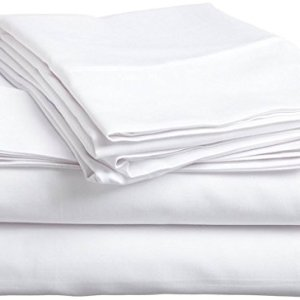 "Linen Adda 4 PC Bed Sheet Set 400 TC 100% Egyptian Cotton Super Soft Long Staple, Italian Finish Fitted Sheet fits Upto 15"" deep Pocket Mattress Twin XL, White Solid"