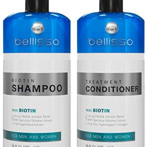 Biotin Shampoo and Conditioner for Hair Growth | Thickening Anti Hair Loss Shampoo Treatment | Regrowth Shampoo & Conditioner for Oily & Color Treated Hair