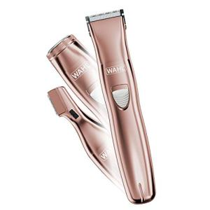 Wahl Pure Confidence Rechargeable Electric Razor, Trimmer, Shaver, & Groomer for Women with 3 Interchangeable Heads - Model 9865-2901