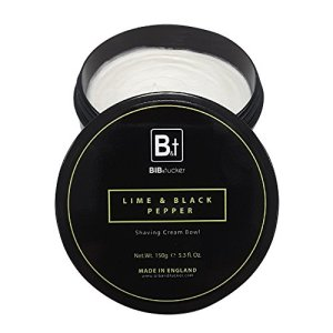 Bib & Tucker Luxury Lime & Black Pepper Shaving Cream 5.3 fl oz