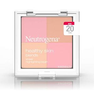Neutrogena Healthy Skin Blends Powder Blush Makeup Palette, Illuminating Pigmented Blush with Vitamin C and Botanical Conditioners for Blendable, Buildable Application, 20 Pure,.3 oz