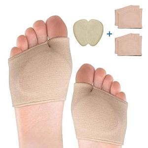 Seilanc [3 Pairs] Metatarsal Sleeve Pads-2-Pair Ball of Foot Cushions and 1-Pair Gel Forefoot Cushion for Metatarsalgia,Mortons,Blisters,Callus,Bunion,Neuroma,Diabetic Feet Pain Relief -Men & Women