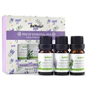Benatu Essential Oils Set - Tea Tree, Lavender, Eucalyptus - Organic Aromatherapy Kit for Diffuser, Soap & Candles Making 3 Packs - 10ml