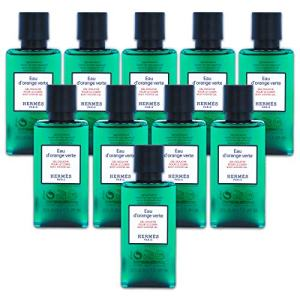 Ten Hermès Eau d'Orange Verte Luxury Body Shower Gel Douche Pour Le Corps in Bubble Bag - Set of 10 X 1.35 Ounce/40 ML Bottles, Total 13.5 Ounce/400 ML