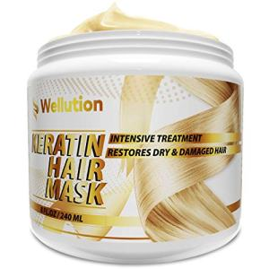 Keratin Hair Mask – Intensive Restoration Treatment for Dry or Damaged Hair – Advanced Keratin Formulation Provides Hair with Vital Nutrients to Hydrate & Nourish – Made In USA