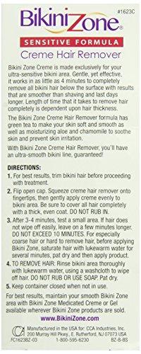 Bikini Zone Bikini Creme Hair Remover, Green Tea Fortified, Packaging May Vary Model: Bikini Zone