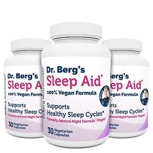 Dr. Berg Sleep Aid Vegan Formula – All Natural Support for Normal Sleeping Cycles to Fight Fatigue & Aids Stress – Best Non Habit Forming Supplements (3 Pack)