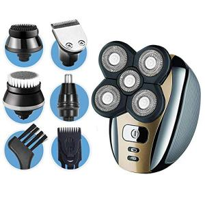 Dreamme Electric Shaver for Men 5-in-1 Grooming Kit for Men:Five-Headed Beard Electric Razors,Nose Hair Trimmer,Head Shavers for Bald Men, Wet/Dry Waterproof Rotary Shavers,Cordless and Rechargeable