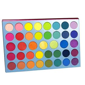 Beauty Glazed Colors Fusion Eyeshadow Palette 39 Shades Matte Shimmer Glitter Long Lasting Matte Shimmer Eye Shadow Pallet Over the Rainbow High Pigment Makeup Palette Cream