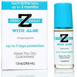 ZeroSweat Antiperspirant Deodorant with Aloe | Clinical Strength Hyperhidrosis Treatment - Reduces Armpit Sweat for Up To 7-days per Use - Protection from Excessive Sweating and Odor for Men and Women