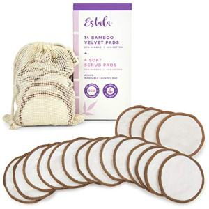 Reusable Make Up Remover Pads | 18 Bamboo Removal Pads with Laundry Bag | Washable and Eco-Friendly | For All Skin Types | Face Cleaner and Eye MReusable Make Up Remover Pads | 18 Bamboo Removal Pads with Laundry Bag | Washable and Eco-Friendly | For All Skin Types | Face Cleaner and Eye Make Up Remover Padsake Up Remover Pads