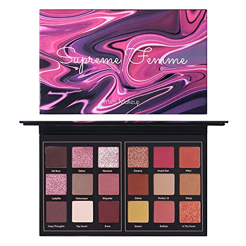 Matte Eyeshadow Palette Pro 18 Colors Highly Pigmented Shimmer Eye Shadow Palette Blendable Long Lasting Waterproof Makeup Cosmetics (02# Femme)