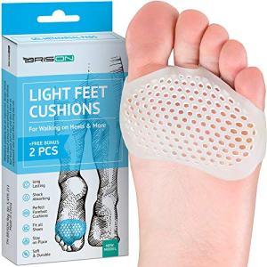 Metatarsal Pads Ball of Foot Cushions - Soft Gel Ball of Foot Pads - Mortons Neuroma Callus Metatarsal Foot Pain Relief Bunion Forefoot Cushioning Relief Women (1 Pair)