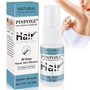 Hair Inhibitor, Hair Removal Spray, Stop Hair Growth, Hair Inhibiting and Reducing to Stop Hair Growth, Natural Ingredient, Non-Irritating Hair Removal Spray Depilatories, For Arm/Underarm/Legs