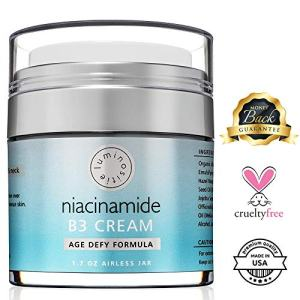 5% Niacinamide Vitamin B3 Cream Serum - Anti-Aging For Face & Neck. 1.7oz. Use Morning & Night. Firms & Renews Skin. Tightens Pores, Reduces Wrinkles, Fades Dark Spots & Boosts Collagen. Made in USA