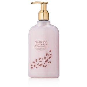 Thymes - Goldleaf Gardenia Perfumed Body Wash with Pump - Luxury Floral Shower Gel for Women - 9.25 oz