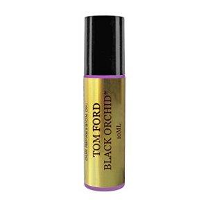 Premium Perfume Studio IMPRESSION with Similar Fragrance Accords to Black Orchid OIl, 10ml Purple Roller, Black Cap, 100% Pure-No Alcohol (VERSION/TYPE Scent; Not Original Brand)