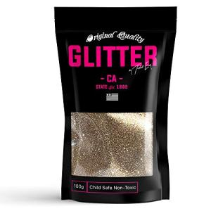Champagne Gold Premium Glitter Multi Purpose Dust Powder 100g / 3.5oz for use with Arts & Crafts Wine Glass Decoration Weddings Cards Flowers Cosmetic Face Body (Packaging May Vary)