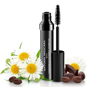 Natural Organic Mascara | 100% Natural Enriched With Chamomile, Vitamin E, Jojoba Oil | Vegan & Gluten Free, Nourishes and Conditions | Cruelty Free Hypoallergenic Safe For Sensitive Eyes